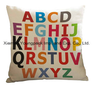 Home Decorative Custom Printed Cotton Canvas Square Zipper Cushion Cover pictures & photos