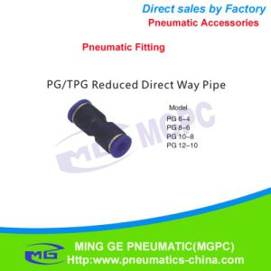 Reduce Direct Way Pneumatic Pipe Fitting for Fast Connector (PG6-4, PG8-6, PG10-8, PG12-10)