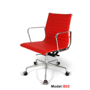 Eames Office Aluminium Leather Hotel Leisure Manager Chair (B02) pictures & photos