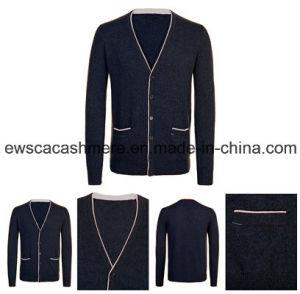 Men′s Pure Cashmere Cardigan A16m-001bw pictures & photos