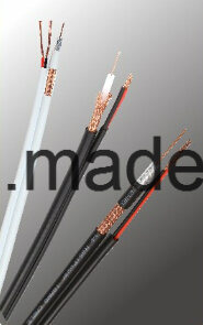 High Definition Siamese CCTV Rg59 Cable with Solid Copper Conductor pictures & photos