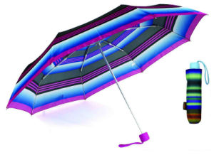 Strip Design Straight Automatic Umbrella with Match Colored Handle (YS-SA23083926R) pictures & photos
