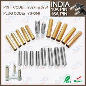 8734 7034 7.0mm 8.7mm 15/16AMP South Africa India Plug Pin with 10/16A Crimping Brass Pin Hollow Solid pictures & photos