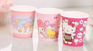 Colorful Hello Kity Party Cups for Cold Drink Paper Cups pictures & photos