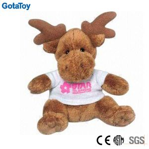Competitive Price Factory Custom Plush Toy Moose with Cotton Shirt pictures & photos