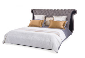 New Italian Design Leather Bed pictures & photos