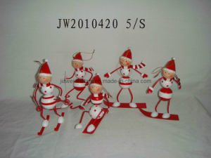 Christmas Boy and Girls Hanging (JW10420)