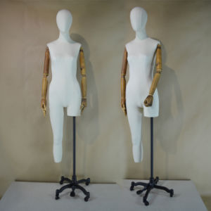 Fabric Wrapped Female Mannequin with Wood Arm pictures & photos
