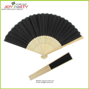 Black Cloth Hand Held Fan pictures & photos