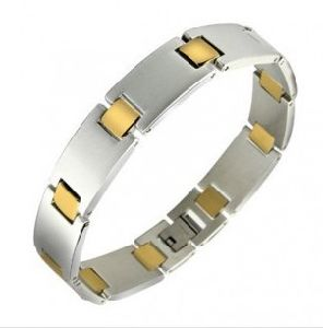 Stainless Steel with Gold Plating Bracelet (XBL12343) pictures & photos