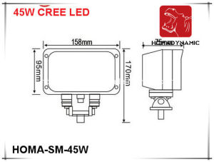 7 Inch 45W LED Work Light/4WD/SUV/Jeep Offroad Lighting pictures & photos