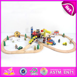 2015 New Kids Wooden Train Toy, Popular Children Wooden Train Toy, High Quality Baby Wooden Train Toy Set (WITH 70PCS) W04c008 pictures & photos