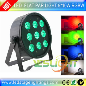 2017 New Design Plastic Slim LED PAR Light 9PCS*10W RGBW 4in1 Edison LEDs by Ce, RoHS pictures & photos