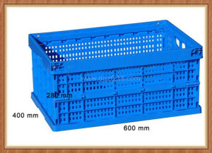 Superior Durable Folding Plastic Storage Basket for Sale pictures & photos