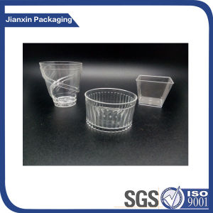 Customize Disposable Plastic Cup Tray for Pudding pictures & photos