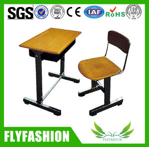 Wooden Single Desk and Chair for Student (SF-06S) pictures & photos