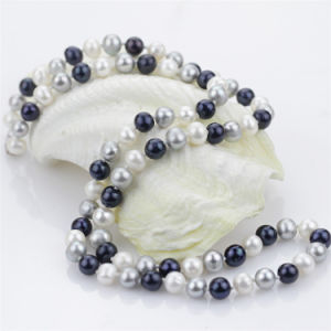 7-8mm off Round Mixed Color Small Women Natural Pearl Necklace Jewelry pictures & photos