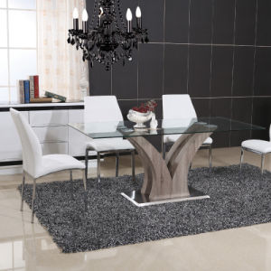 Stainless Steel Dining Room Glass Table with Chair (ET60 & EC58) pictures & photos