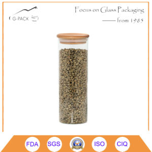 Borosilicate Glass Canisters with Bamboo Cap pictures & photos