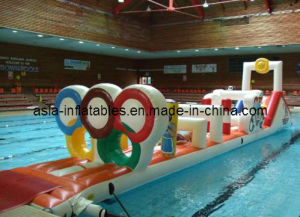 China Commercial Pool Inflatable Water Obstacle Courses China Aqua Run Airflow Pool Inflatables