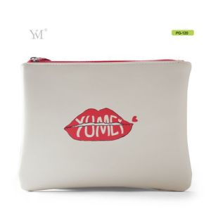 Guangzhou Wholesale Fashion PVC Leather Zipper Cosmetic Makeup Bag pictures & photos