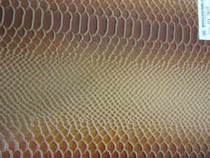 Snake Pattern PU Leather for Shoes and Bags (HX1409) pictures & photos