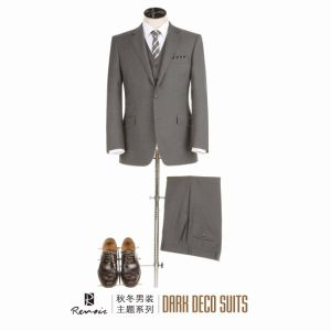 OEM 3 Pieces Classic Fit Woolen Men′s Business Suit pictures & photos