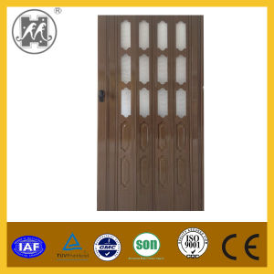PVC Accordion Folding Door 10mm Thickness with Glass pictures & photos