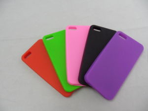 Custom Colourful Mobile Phone Silicone Cover for iPhone 5s pictures & photos