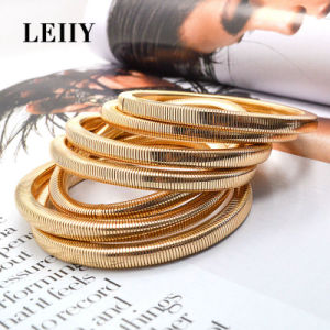 Punk Style Snake Chain Bangles Set for Women pictures & photos