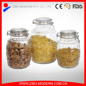 Hot Sale Large Airtight Glass Jars Clear Glass Storage Containers Glass Lids pictures & photos