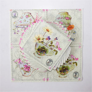 Colorful Flower Printed Party Favors Paper Tableware Napkin pictures & photos