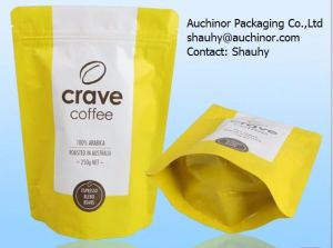 250g Aluminum Foil Coffee Bag with Valve/Black Coffee Bean Bag with Valve pictures & photos