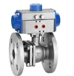 Pneumatic Actuator Operate Flanged Ball Valve (WCB/SS304) pictures & photos