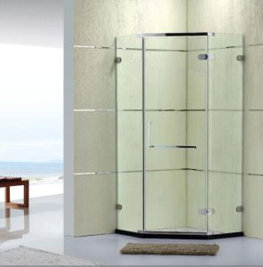 Sanitary Wares Australian Standard Frameless Simple Shower Room with Hinge (P14) pictures & photos