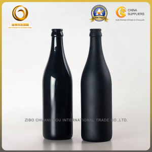 Best Quality 500ml Black Spray Beer Glass Bottles (407) pictures & photos