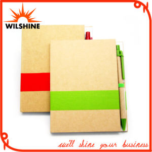 Customized Glue Bound Paper Notebook with Pen for Promotion (SNB102) pictures & photos