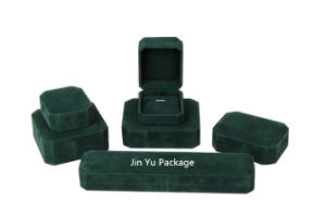 Green Velvet Retro jewelry Gift Packaging Box for Jewelry Set pictures & photos