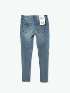 Hot Selling Fashion Damaged Plain Skinny Women Jeans pictures & photos