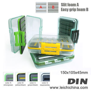 Wholesale Colorful Waterproof Plastic Foam-Inside Fly Fishing Box pictures & photos