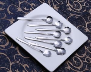 410 Stainless Steel Flower Coffee Mixing Spoon pictures & photos