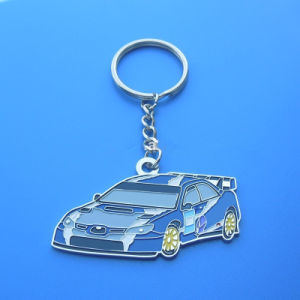 Soft Enamel Metal Keyring with Car Shape pictures & photos