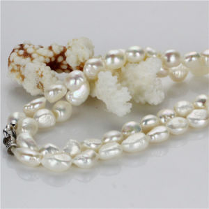 Snh 12mm AA Nucleated Fashion Cultured Pearl Necklace Jewelry pictures & photos