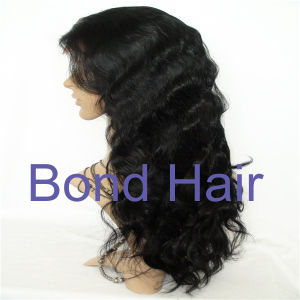 Indian Remy Human Hair Bodywave Full Lace Wig pictures & photos