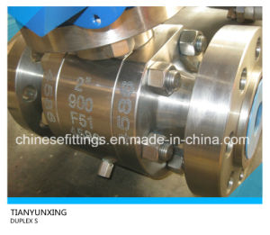 S31803 Saf2205 F51 Duplex Stainless Steel Forged Ball Valve pictures & photos