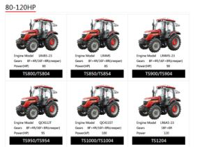 Taishan Wheel Tractor Mountain-Tai Ts1000/Ts1004 pictures & photos