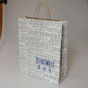Best Price Recycled Brown Kraft Paper Shopping Bag for Clothing pictures & photos