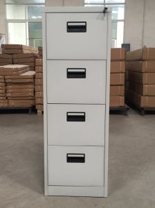 Grey Color 4 Drawer Vertical Filing Storage Cabinet Office Furniture pictures & photos