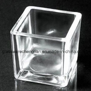 6*6*6cm Square-Shaped Clear Glass Candle Holder for Home Decoration (ZT-073) pictures & photos