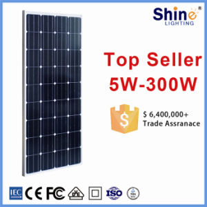 Monocrystalline Solar Panel for Solar Generator/ Home System with 10 Years Warranty pictures & photos